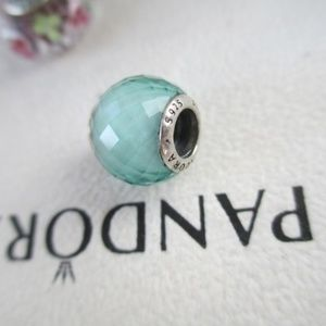 Pandora Green Petite Facets Quartz RETIRED Bead